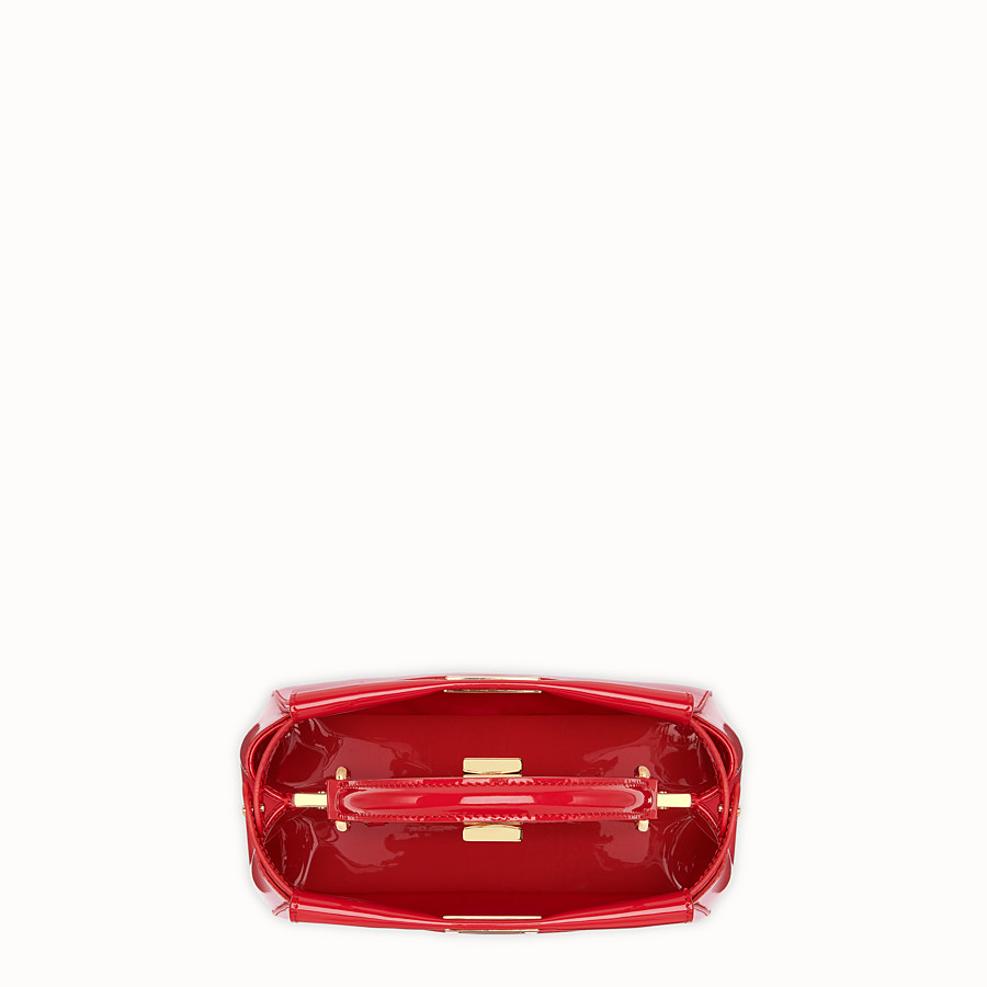 FENDI PEEKABOO ICONIC MINI - Red patent leather bag - view 5 detail