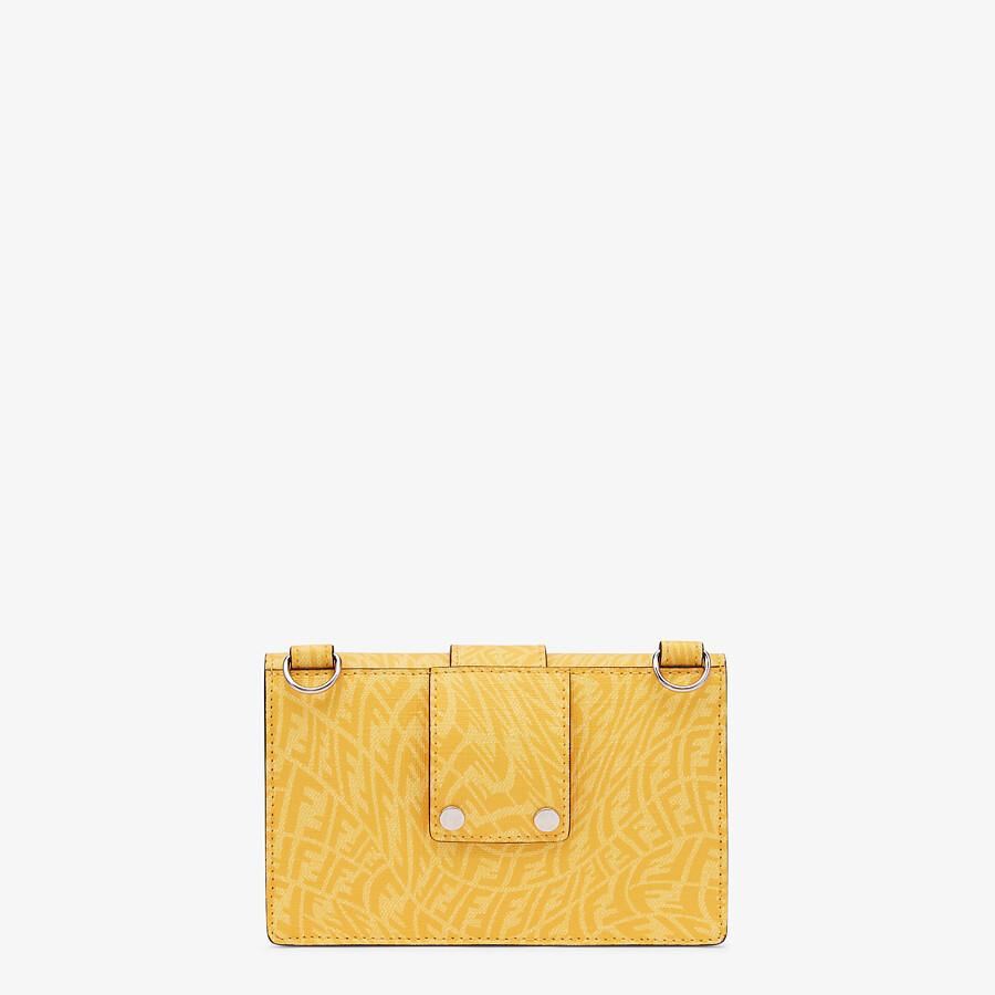 FENDI BAGUETTE POUCH - Yellow fabric bag - view 3 detail