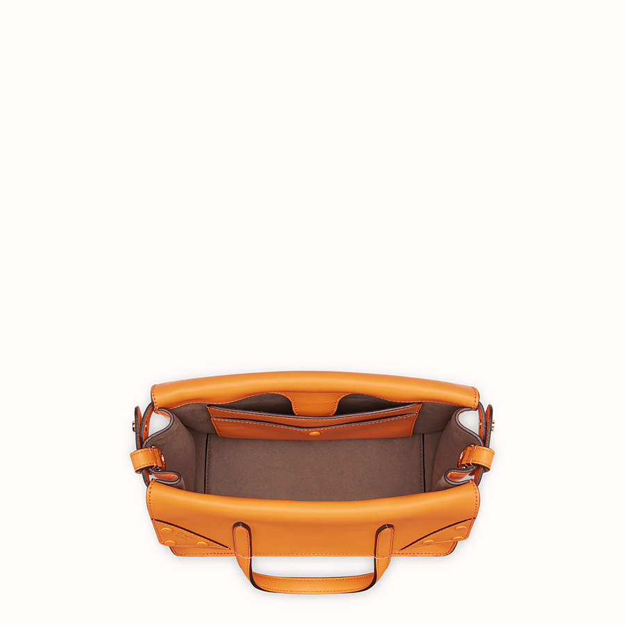 FENDI FENDI FLIP REGULAR - Tasche aus Leder in Orange - view 5 detail