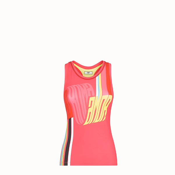 FENDI TANK TOP - Fendi Roma Amor stretch jersey tank top - view 1 small thumbnail