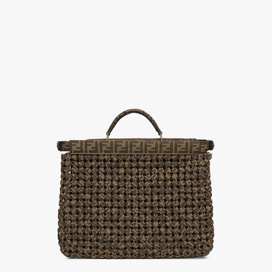 FENDI PEEKABOO ISEEU MEDIUM - Brown fabric bag - view 4 detail