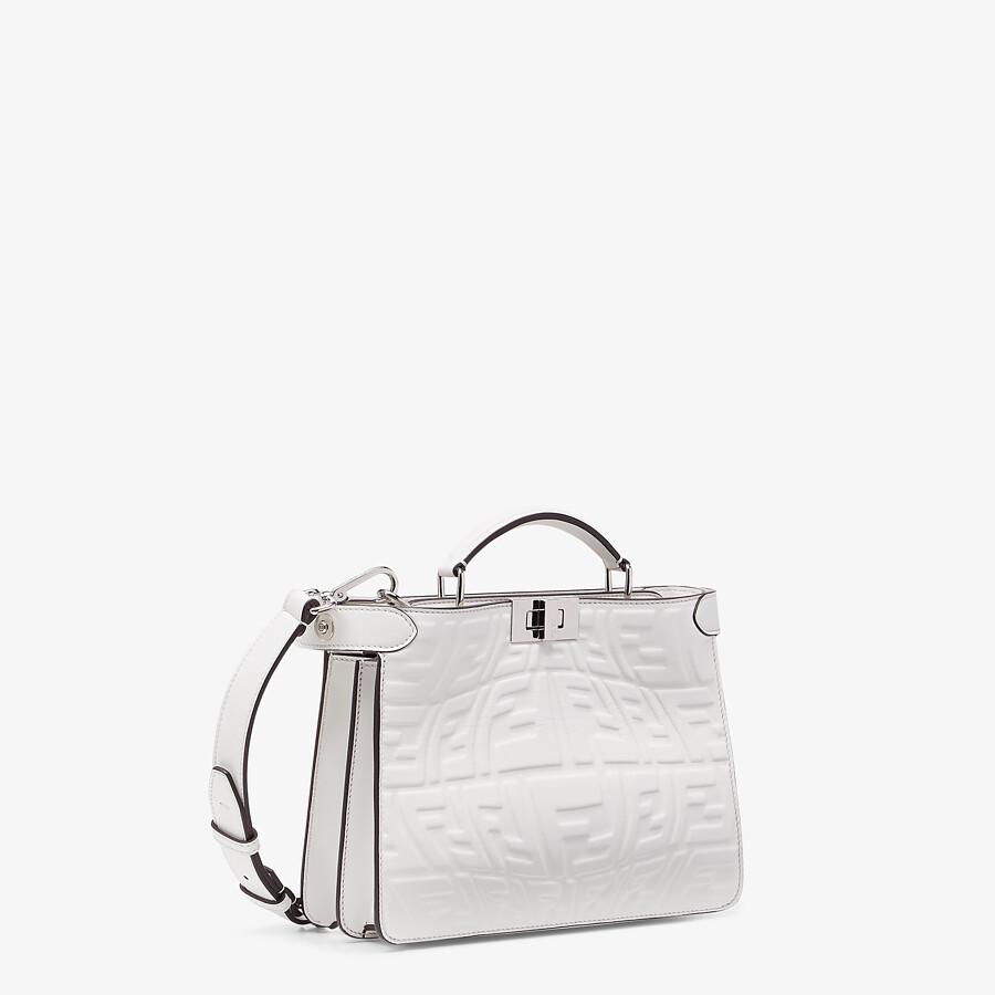 FENDI PEEKABOO ISEEU MINI - White nappa leather bag - view 3 detail