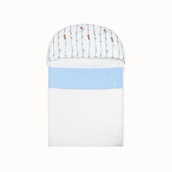 FENDI BABY SLEEPING BAG - Poplin and jersey baby sleeping bag - view 1 small thumbnail
