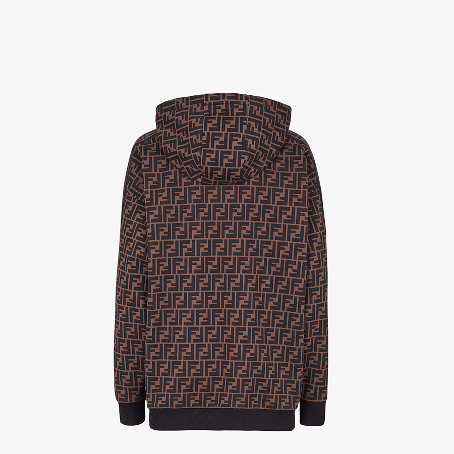 FENDI SWEATSHIRT - Brown jersey sweatshirt - view 2 detail