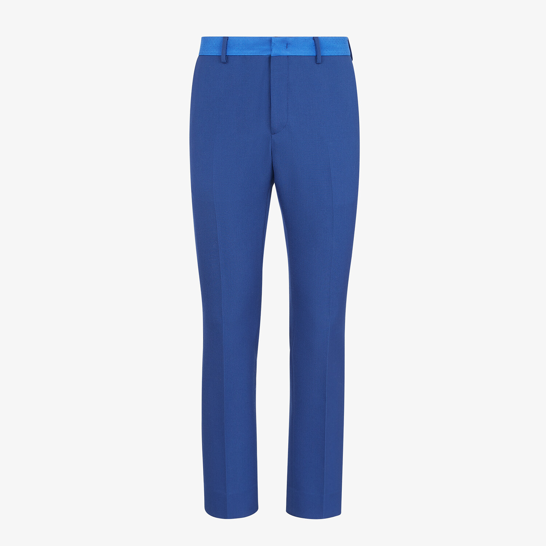 FENDI PANTS - Blue wool pants - view 1 detail