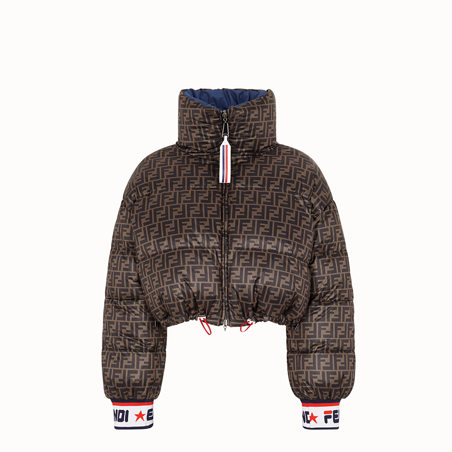 FENDI SHORT DOWN JACKET - Multicolour padded down jacket - view 4 detail