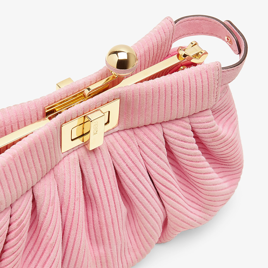 FENDI PEEKABOO CLICK - Small pink chamois bag - view 6 detail