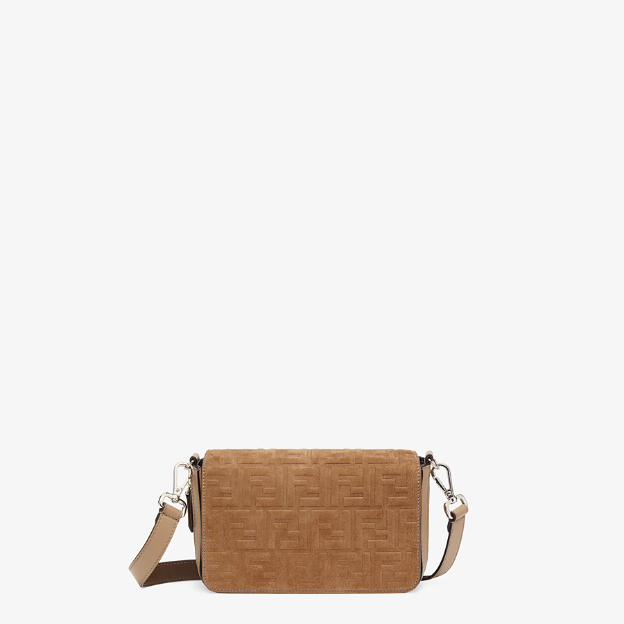 FENDI FLAP BAG - Beige leather bag - view 1 detail
