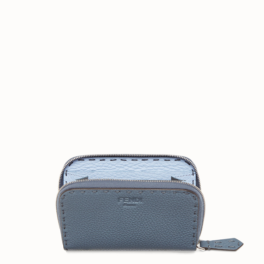 FENDI SMALL ZIP AROUND - Two-tone leather wallet - view 4 detail