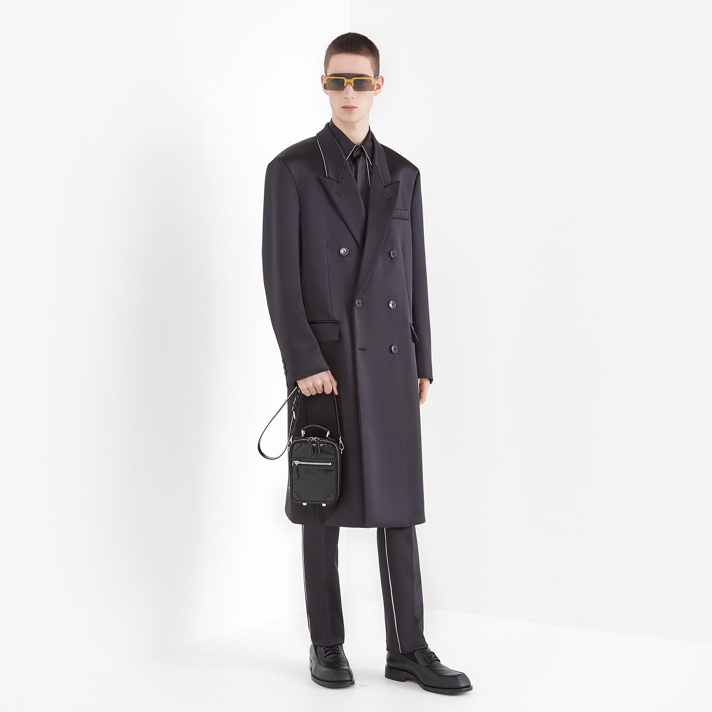 FENDI COAT - Black satin coat - view 4 detail