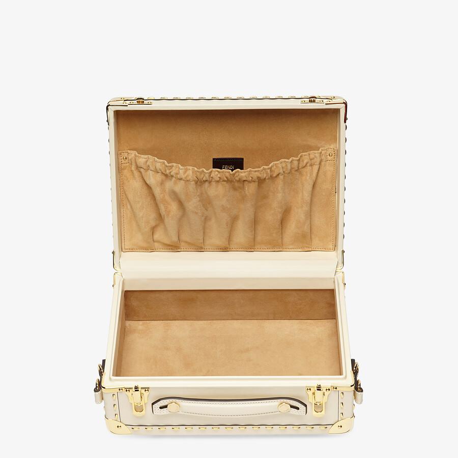 FENDI TRAVEL CASE SMALL - White leather suitcase - view 4 detail