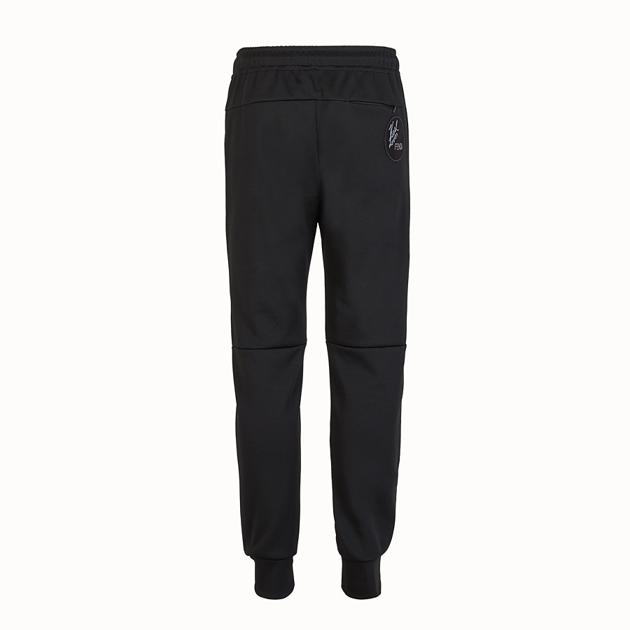 FENDI TROUSERS - Black cotton trousers - view 2 detail