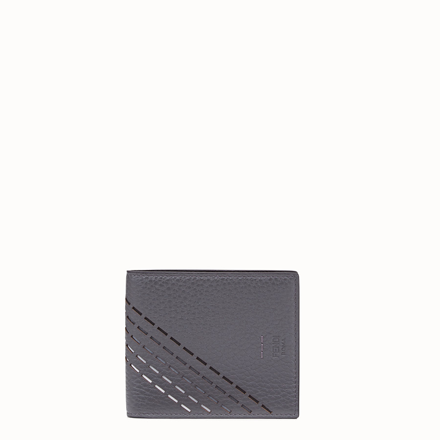 FENDI WALLET - Grey, calf leather bi-fold wallet - view 1 detail