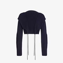 FENDI PULLOVER - Blue cotton jumper - view 2 thumbnail