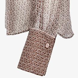 FENDI HEMD - Bluse aus Seide in Braun und Rosa - view 3 thumbnail