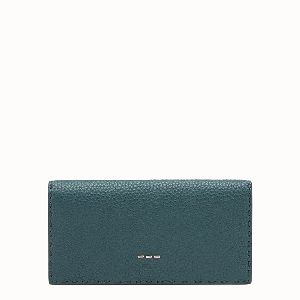 FENDI CONTINENTAL - Green leather Selleria continental wallet - view 1 small thumbnail