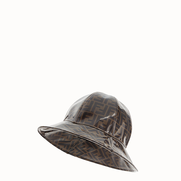 FENDI CHAPEAU - Chapeau en soie marron - view 1 small thumbnail