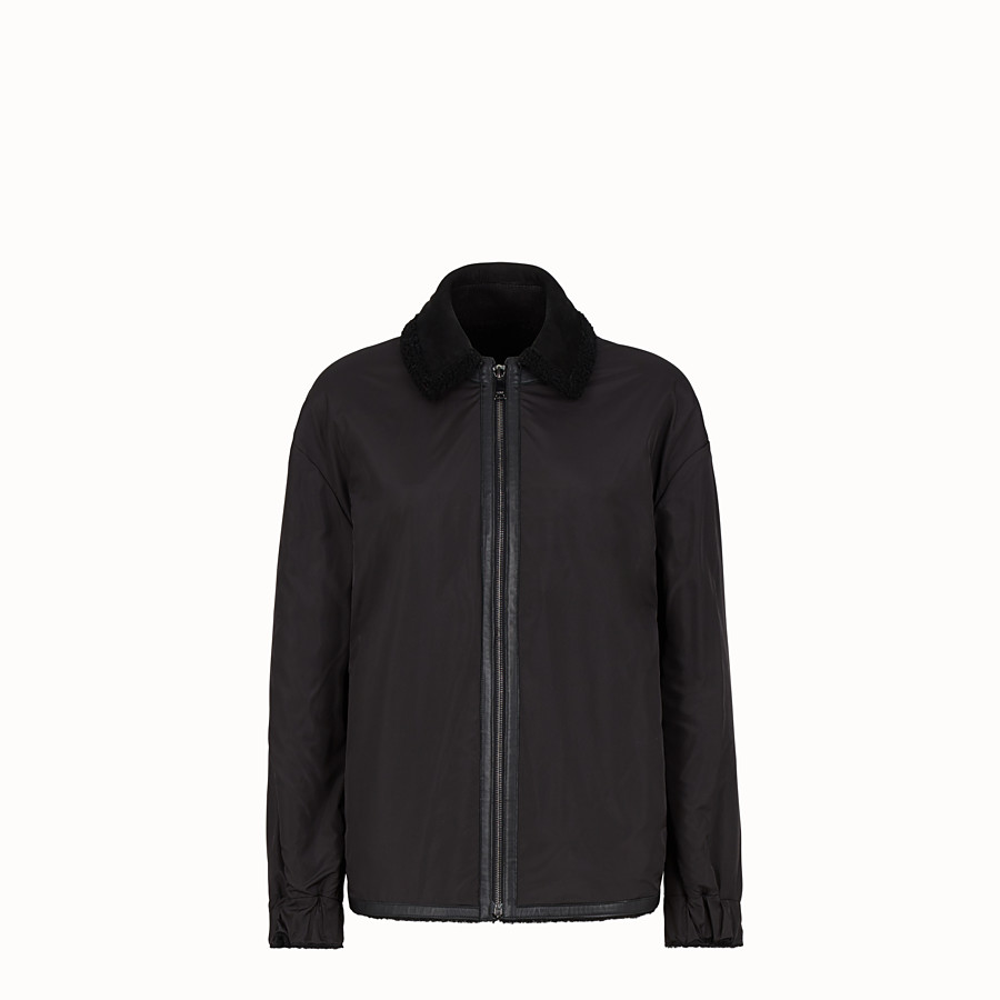 FENDI JACKET - Black sheepskin jacket - view 4 detail