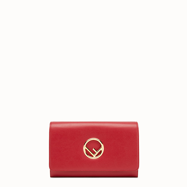 FENDI WALLET ON CHAIN - Mini-bag in red leather - view 1 small thumbnail