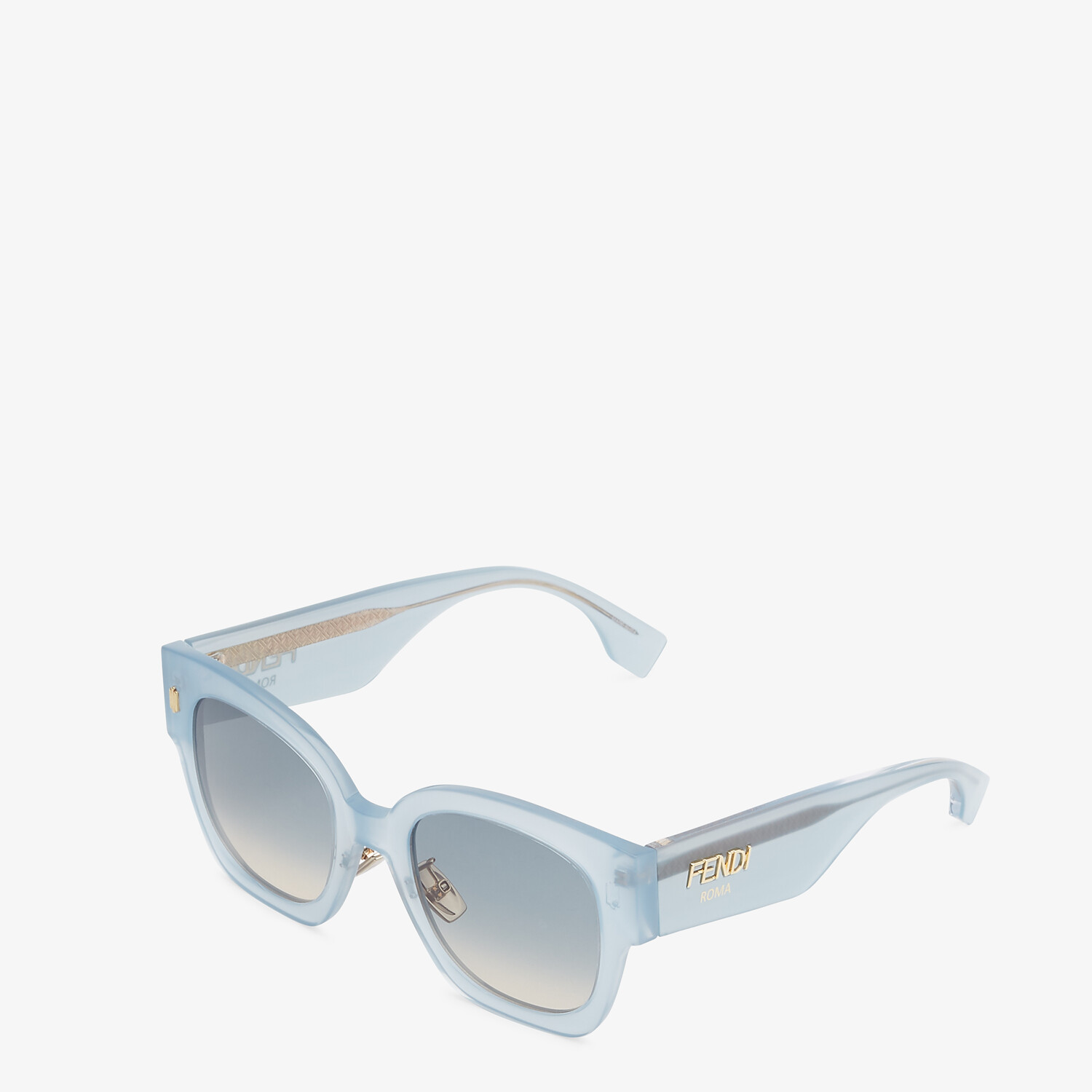 FENDI FENDI ROMA - Light blue acetate sunglasses - view 2 detail
