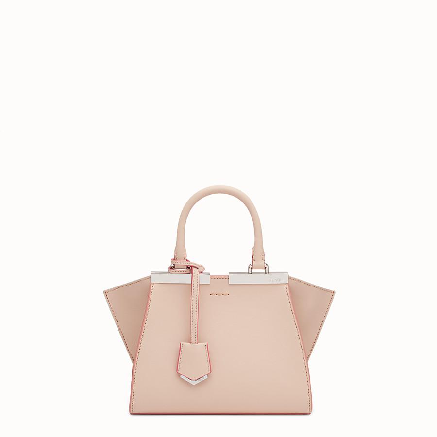 FENDI MINI 3JOURS - powder pink leather handbag - view 1 detail