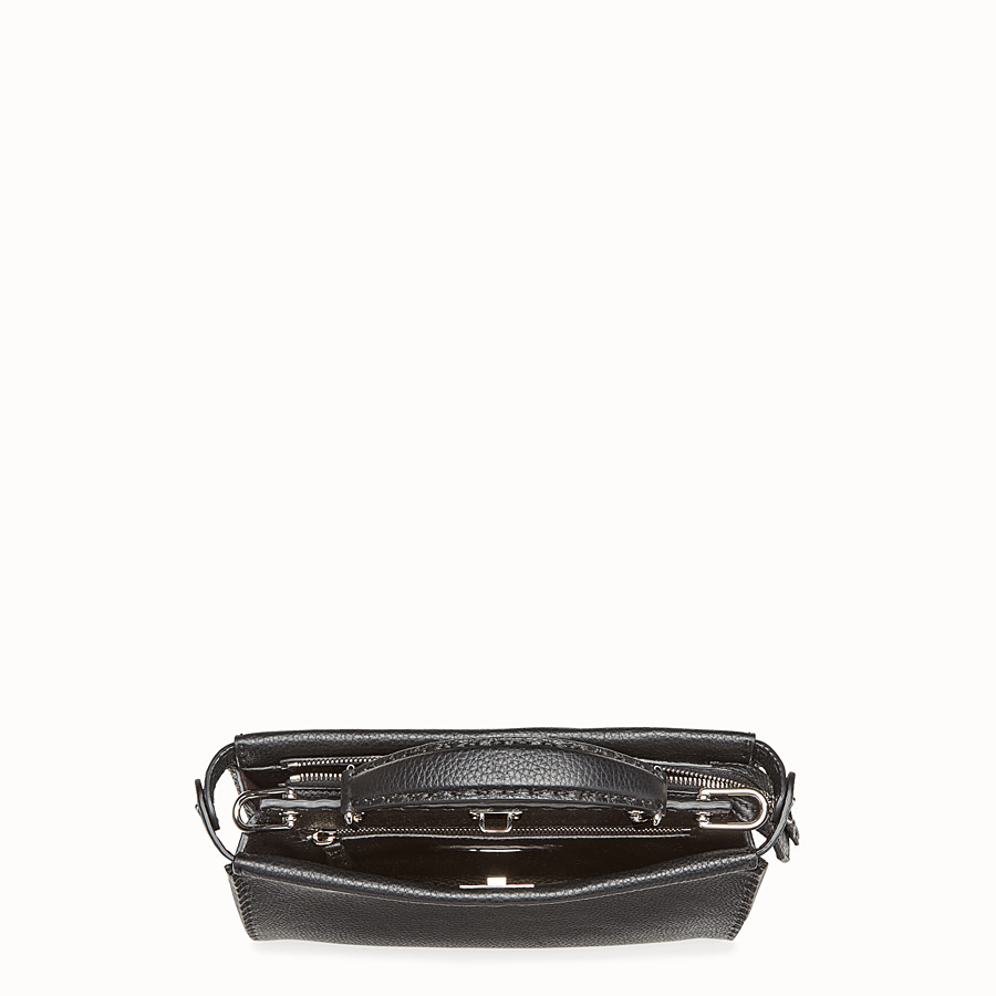 FENDI MINI PEEKABOO FIT - Black leather bag - view 4 detail