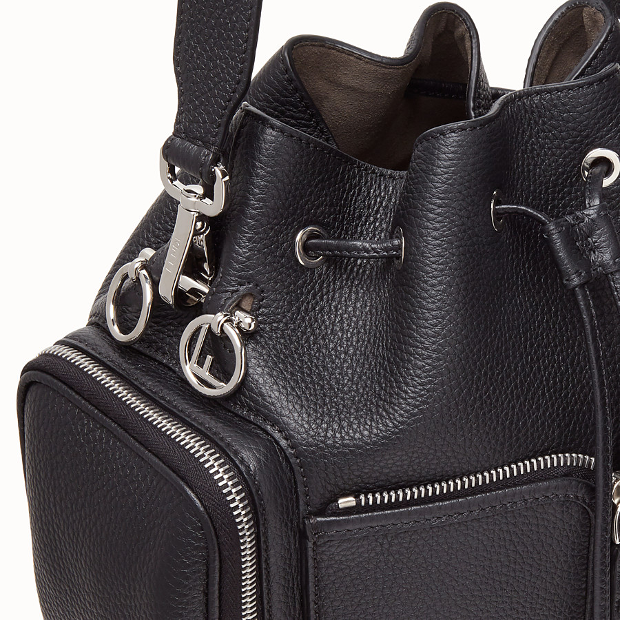 FENDI MON TRESOR - Black leather bag - view 5 detail