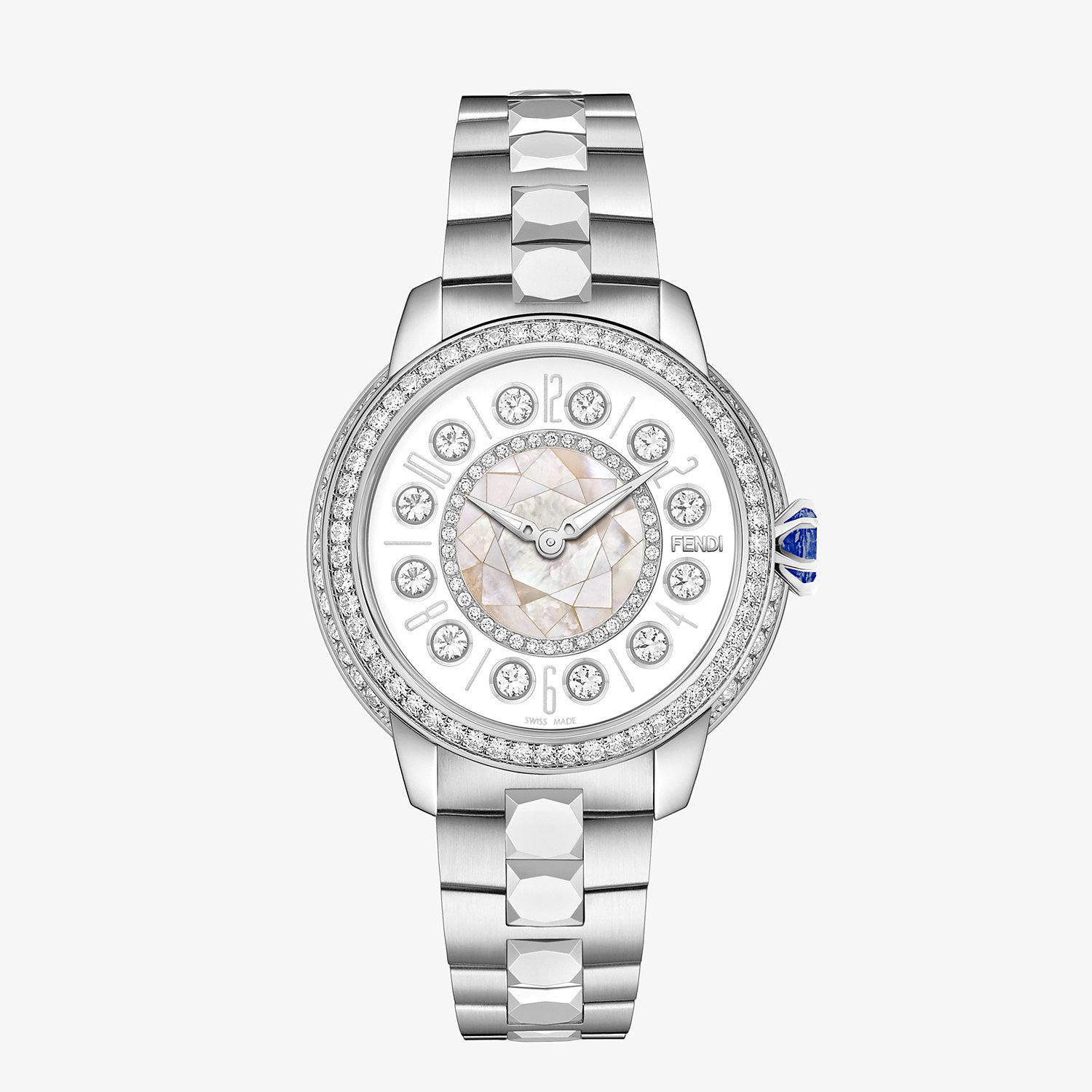 FENDI FENDI ISHINE - 33 MM - Watch with diamonds and rotating precious stones - view 1 detail