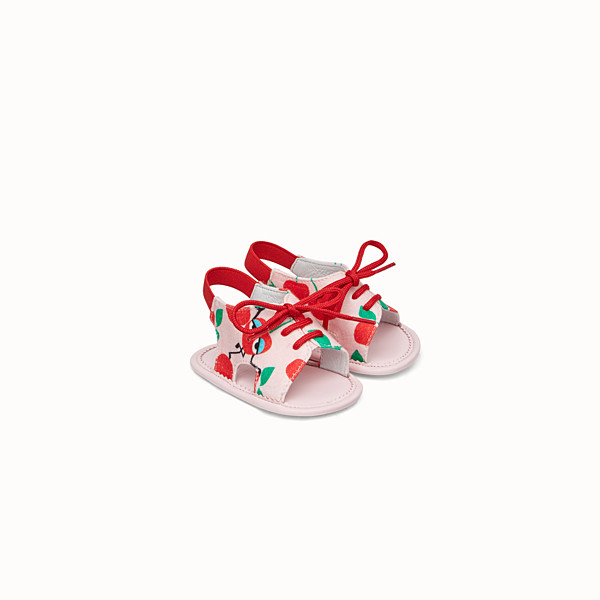 FENDI SANDALS - Pink and red jersey sandals - view 1 small thumbnail