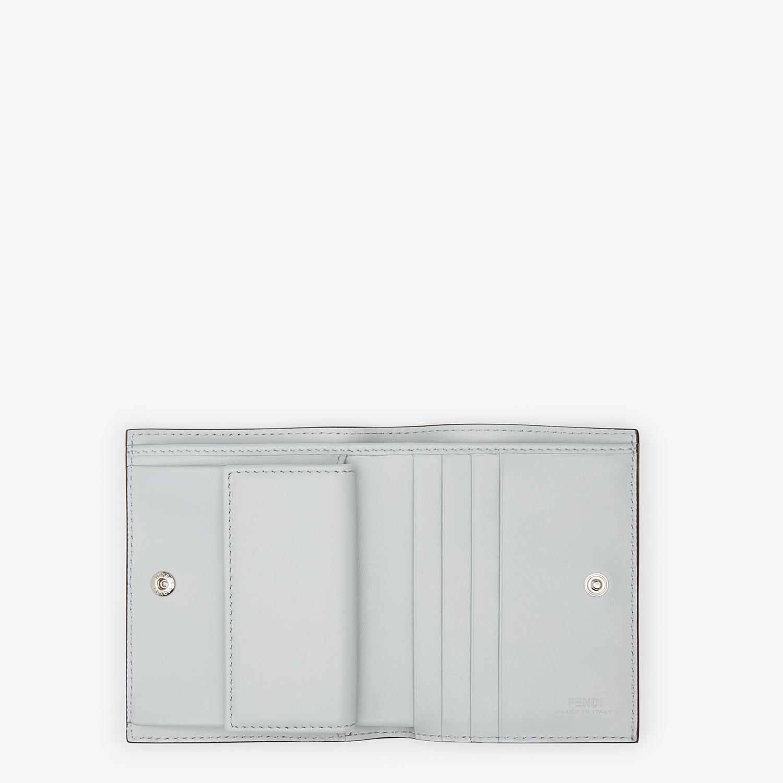 FENDI 二つ折り財布 - グレーレザー コンパクト財布 - view 4 detail