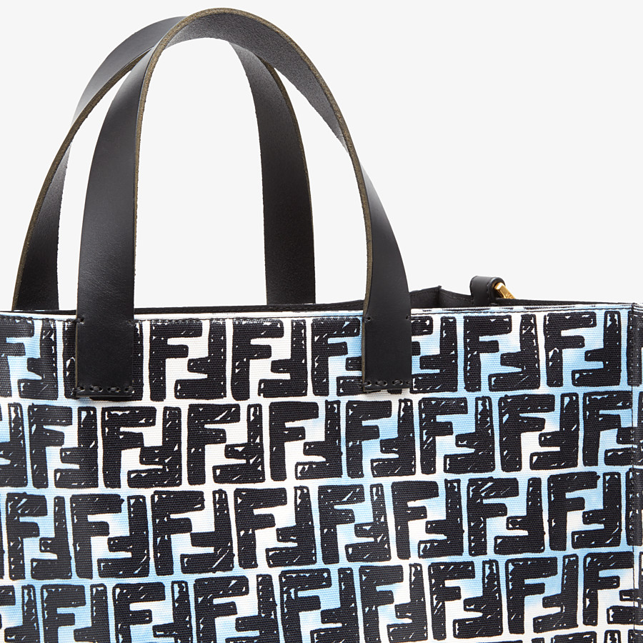 FENDI SHOPPER - Glazed canvas FF bag - view 6 detail