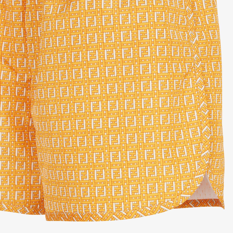 FENDI SHORTS - Orange nylon shorts - view 3 detail