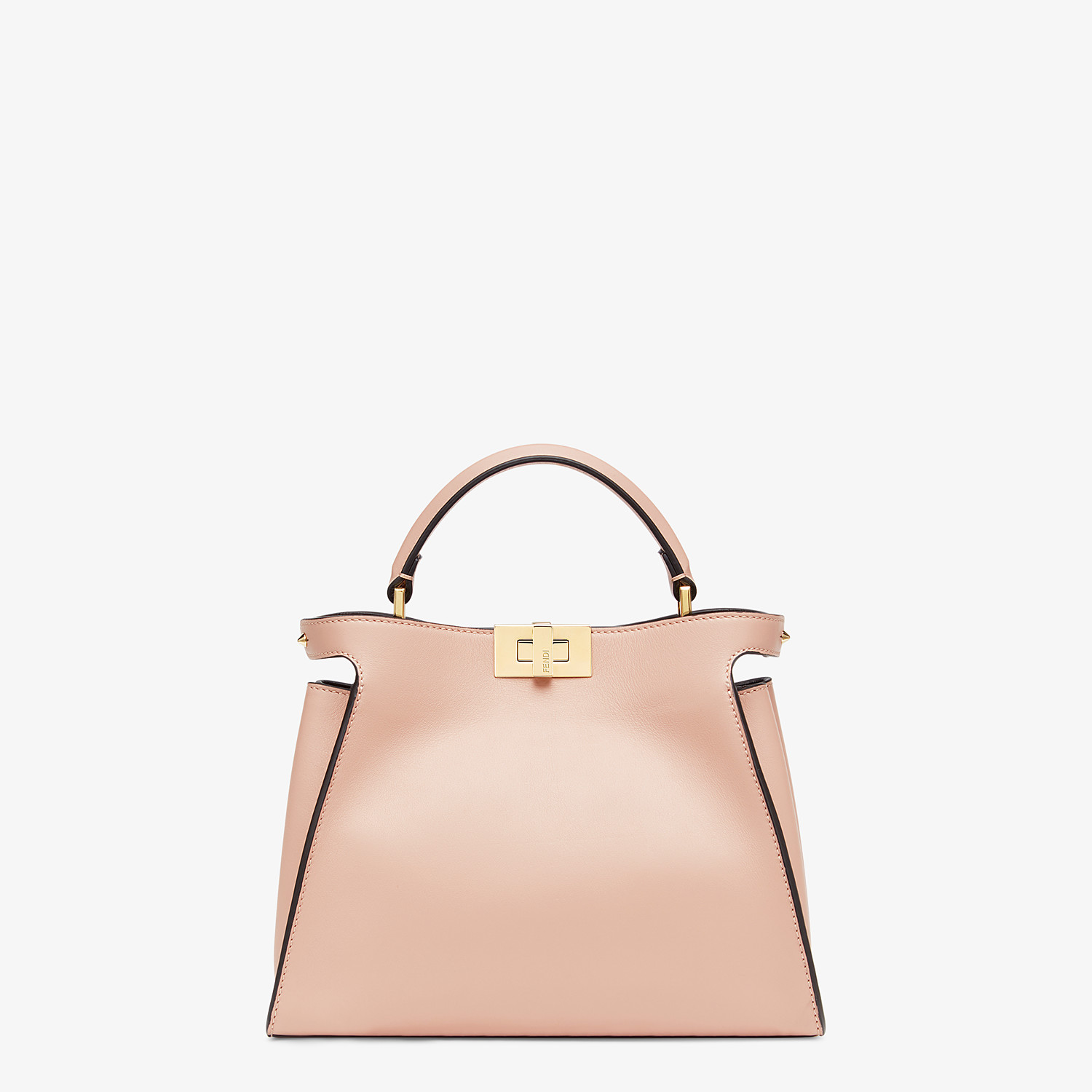 FENDI PEEKABOO ICONIC ESSENTIALLY - Pink leather bag - view 1 detail