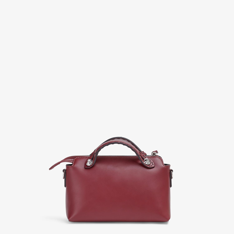 FENDI BY THE WAY MINI - Burgundy leather Boston bag - view 4 detail