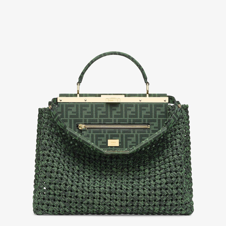 FENDI PEEKABOO ICONIC LARGE - Jacquard fabric interlace bag - view 1 detail