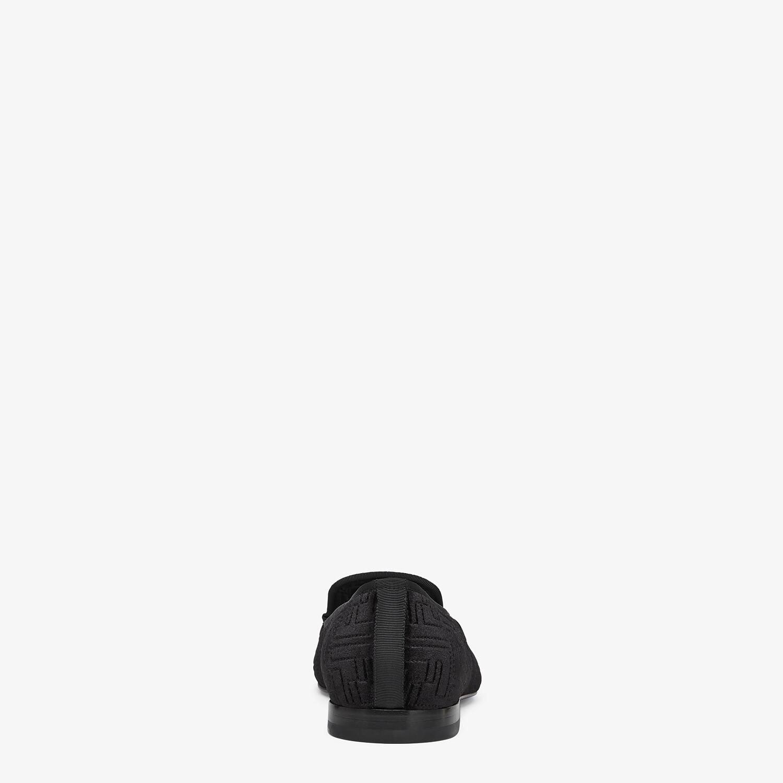 FENDI SLIPPERS - Black velvet slippers - view 3 detail