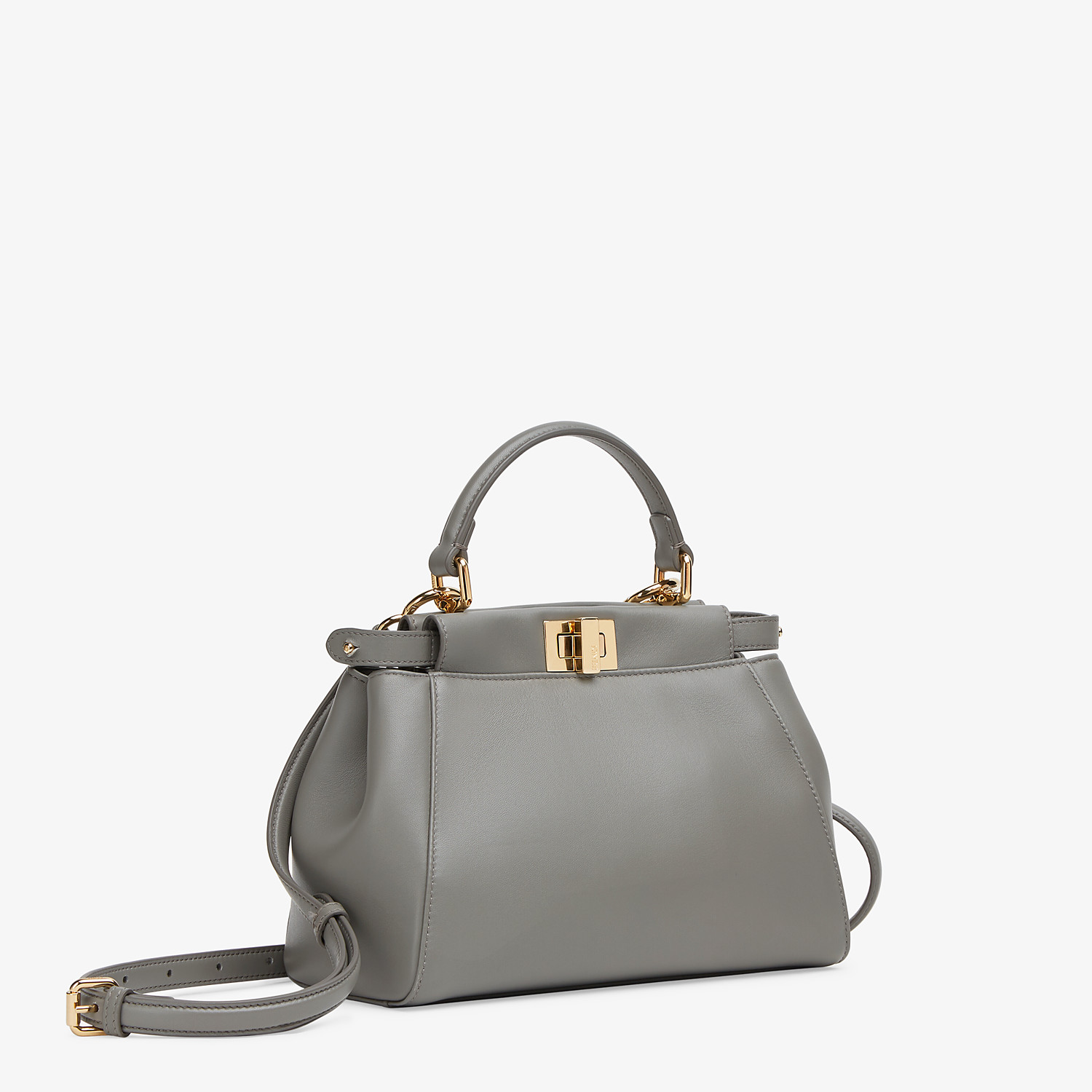 FENDI PEEKABOO ICONIC MINI - Grey nappa leather bag - view 3 detail
