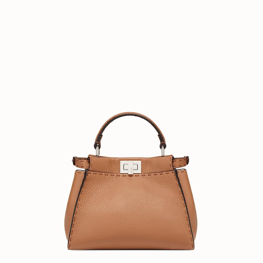 FENDI PEEKABOO ICONIC MINI - Brown leather bag - view 4 detail