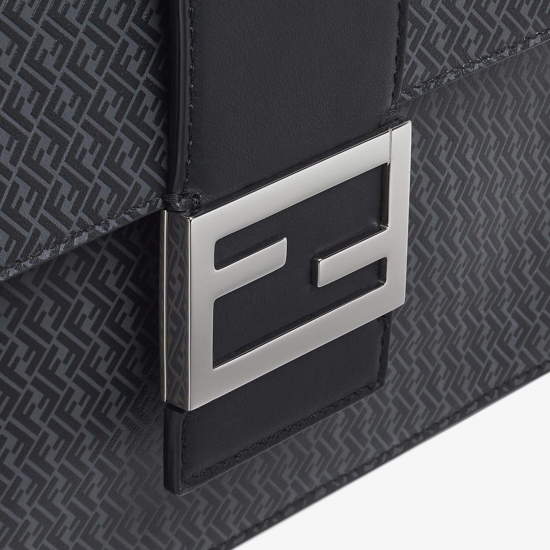 FENDI FLAT BAGUETTE - Dark gray leather bag - view 5 detail