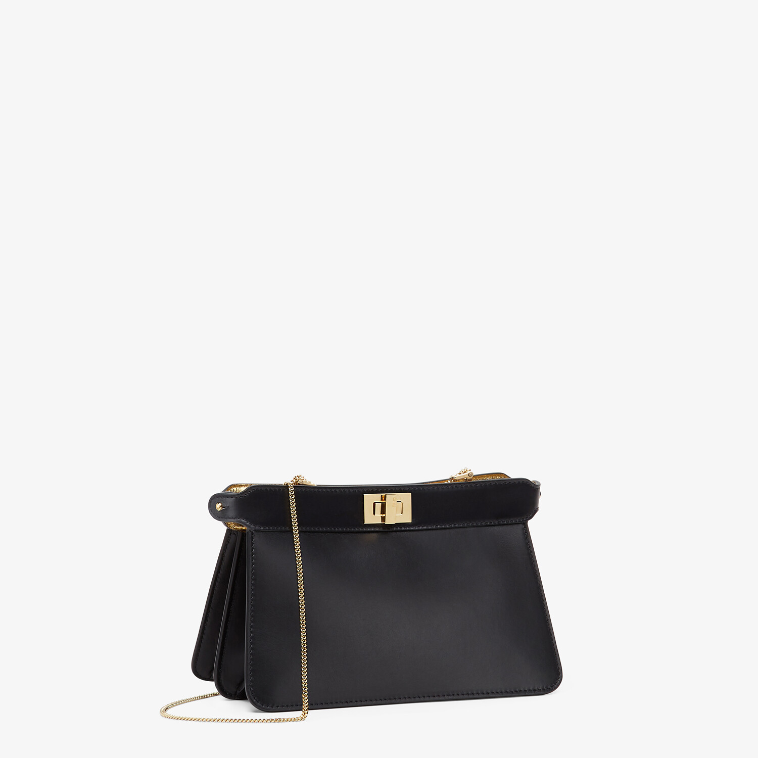 FENDI PEEKABOO I SEE U POCHETTE - Black nappa leather bag - view 2 detail