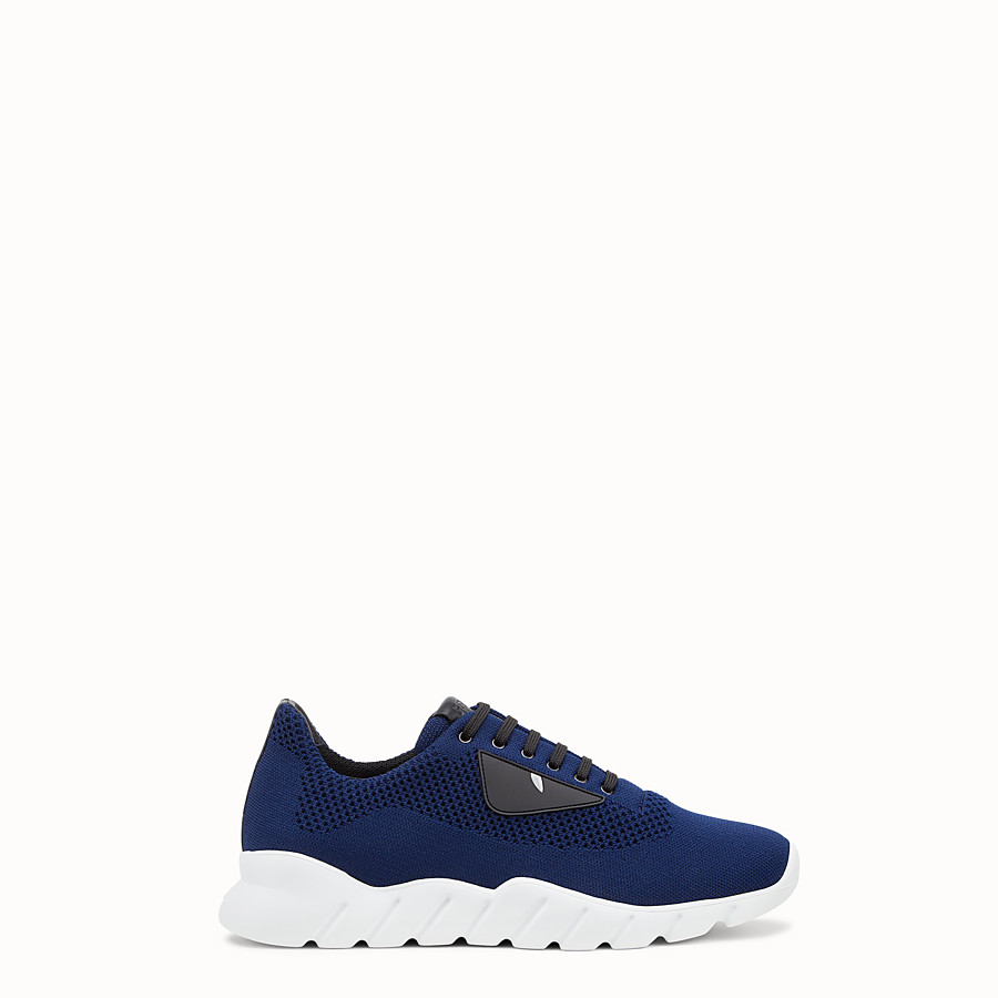 FENDI SNEAKERS - Blue fabric running shoes - view 1 detail