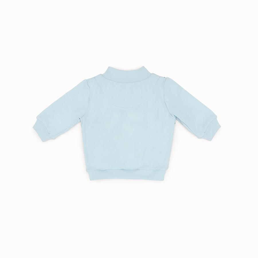 FENDI SWEATSHIRT - Light blue and multicolour cotton sweatshirt - view 2 detail
