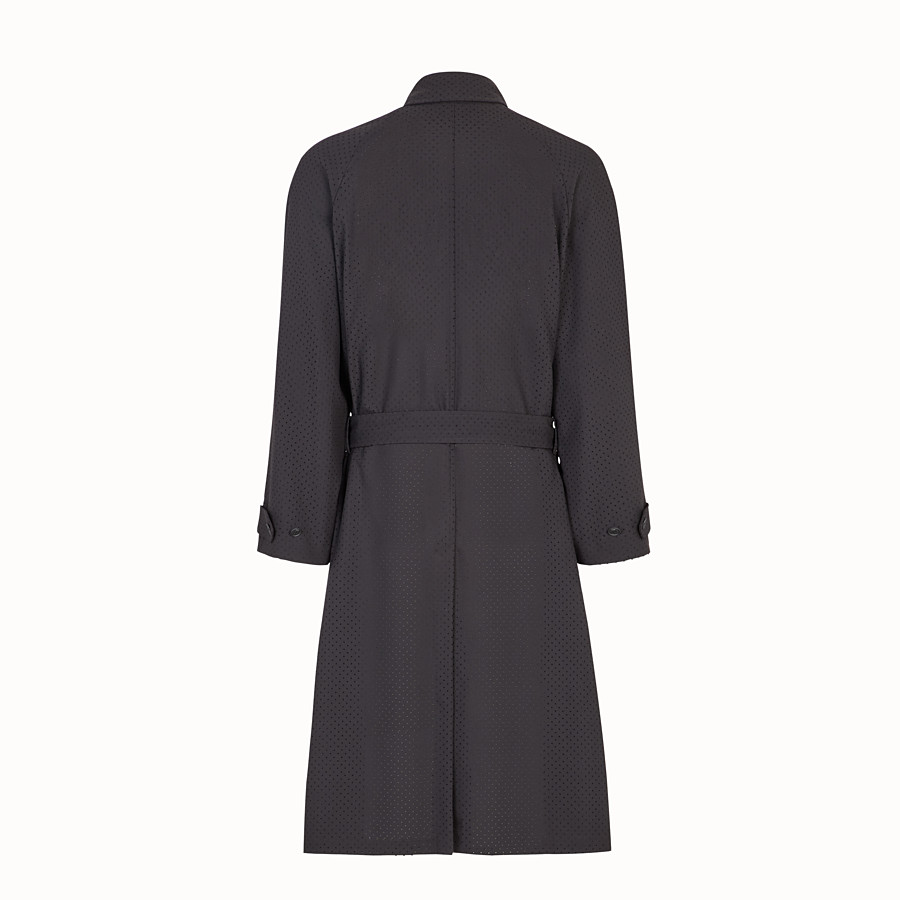 FENDI TRENCH COAT - Black twill trench coat - view 2 detail