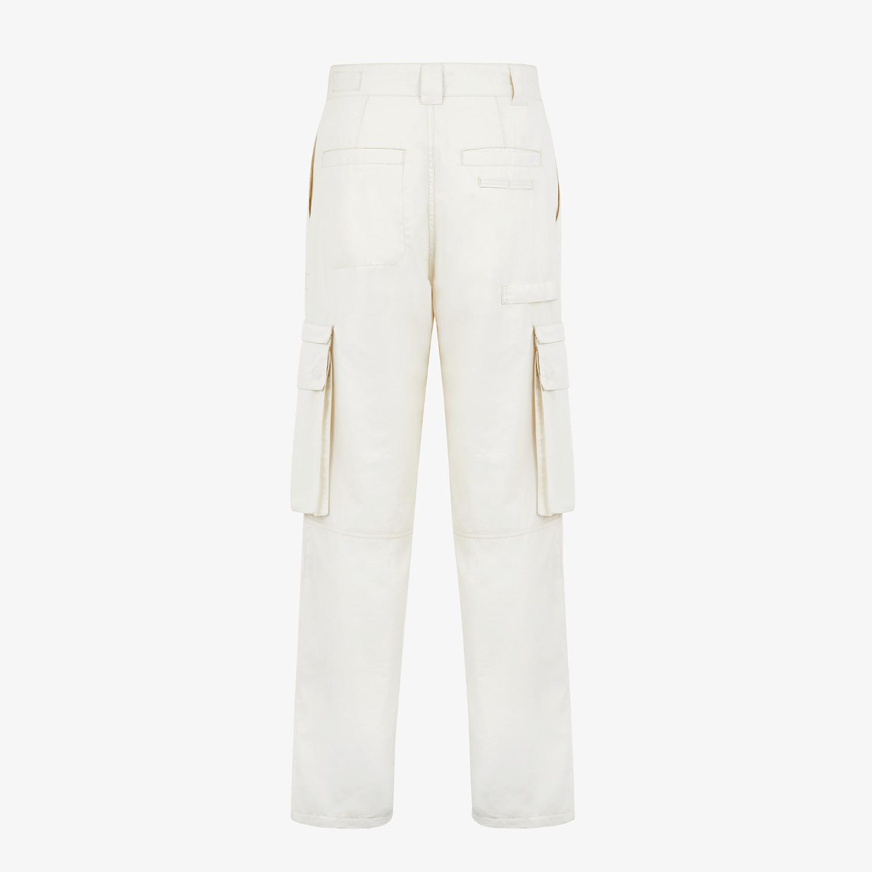 FENDI PANTS - White cotton pants - view 2 detail