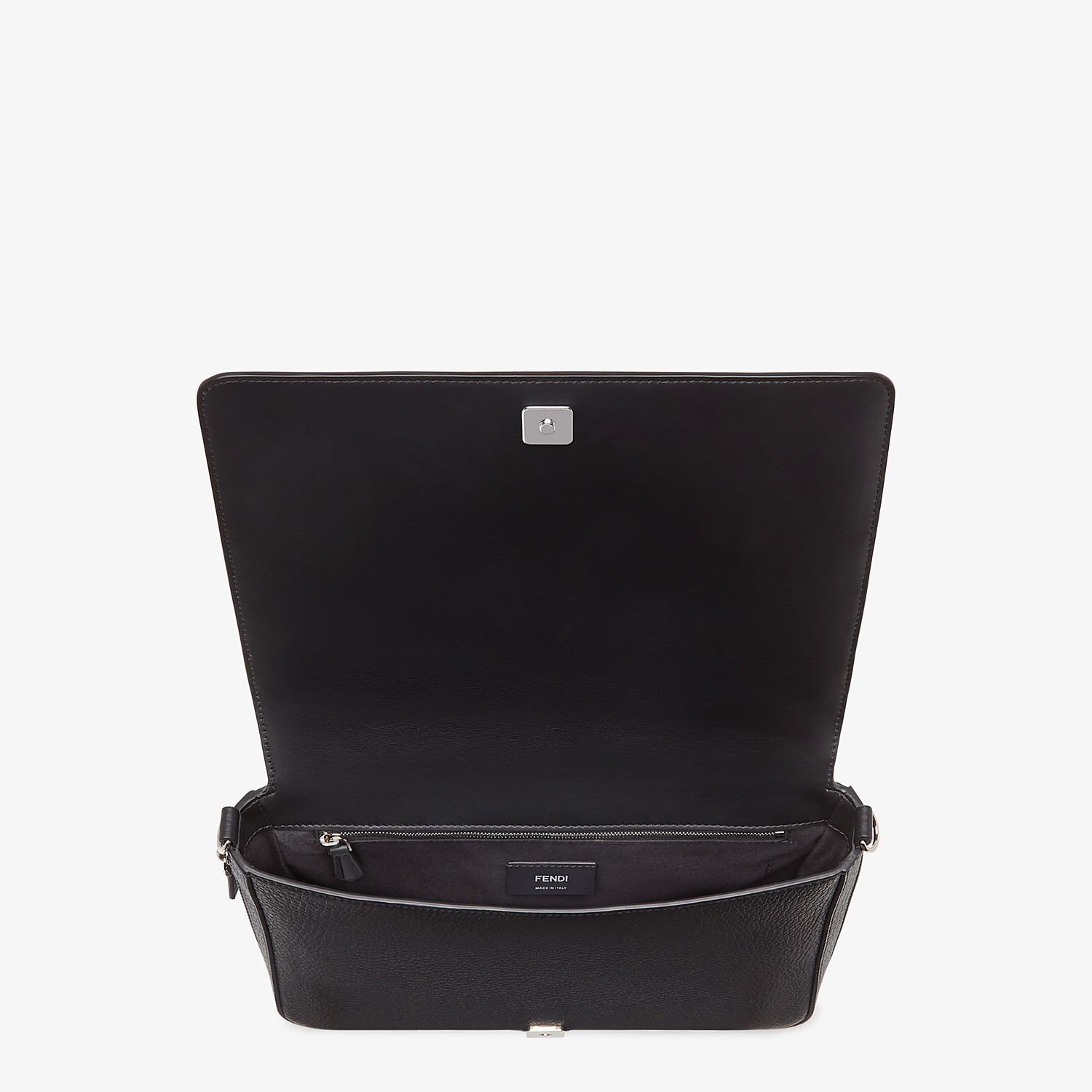 FENDI MESSENGER - Black leather bag - view 5 detail