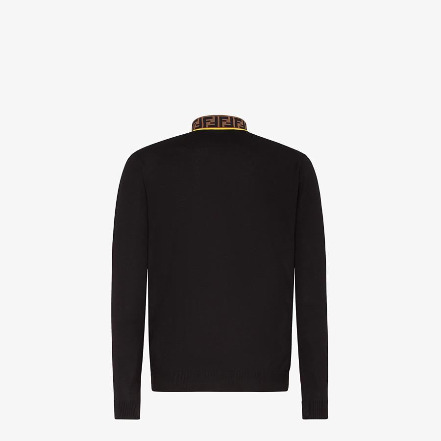 FENDI PULLOVER - Black wool jumper - view 2 detail
