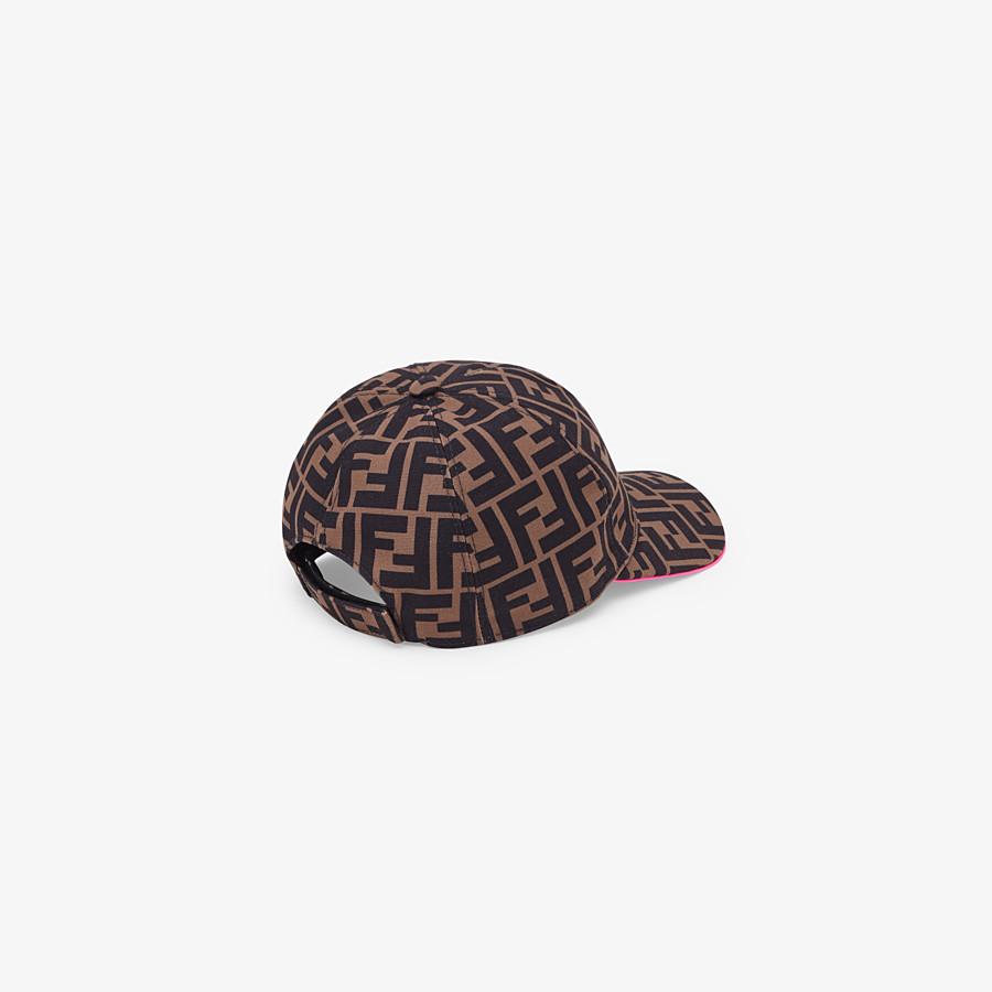 FENDI CAPPELLO - Cappello  in tela marrone - vista 2 dettaglio