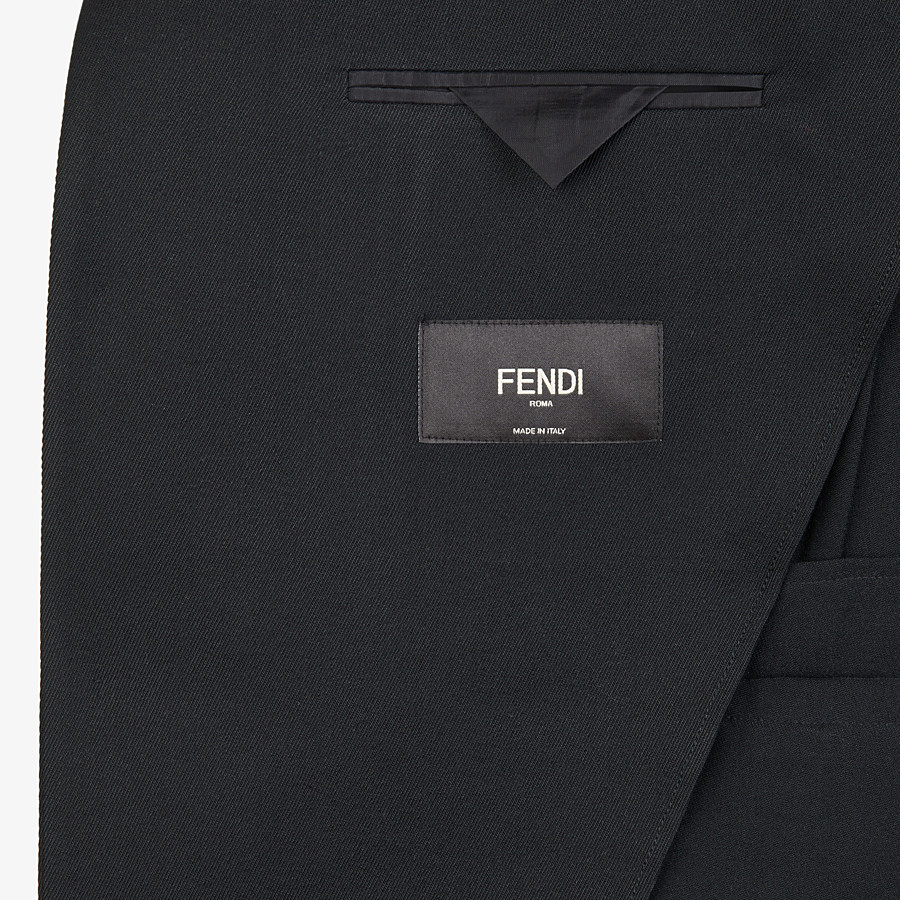 FENDI JACKET - Black twill blazer - view 5 detail