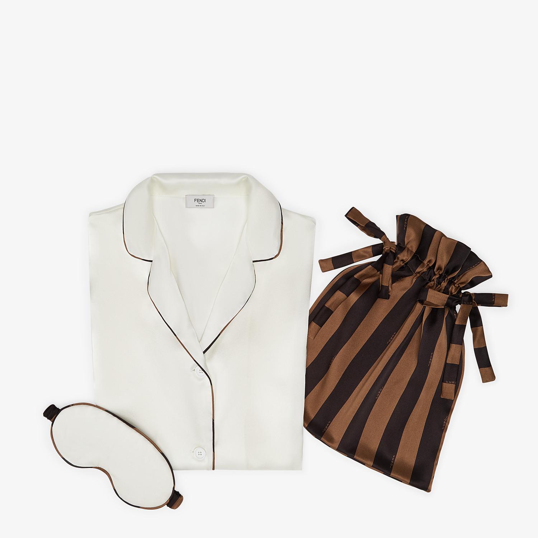 FENDI TRAVEL SET - White silk pyjamas - view 1 detail