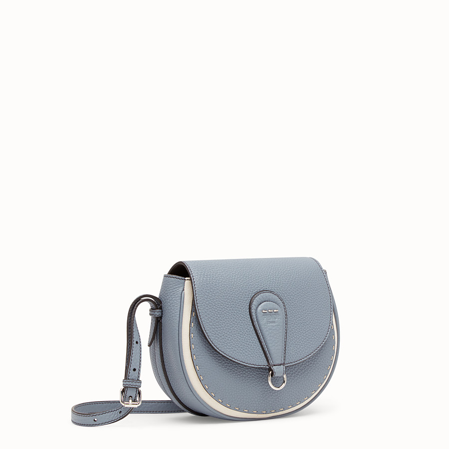FENDI SHOULDER BAG - Pale blue leather bag - view 2 detail